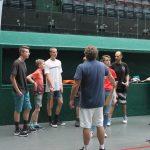 Il s'agissait de faire découvrir à une vingtaine de jeunes les différentes disciplines de la Pelote Basque