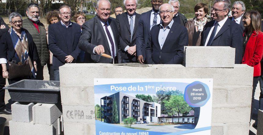 EHPAD Harambillet à Bayonne… Première pierre posée !
